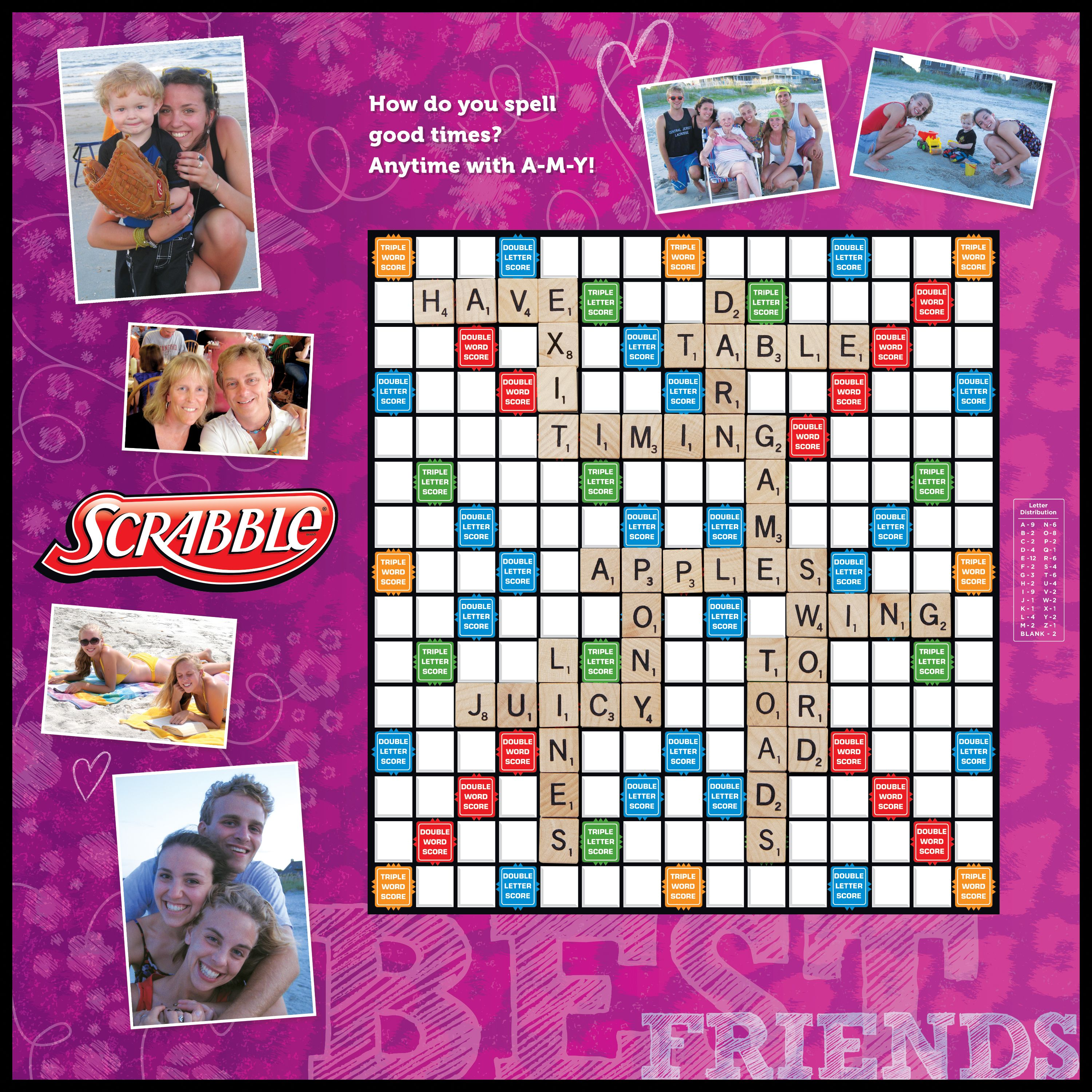 Best Friends Custom Scrabble Game Add Your Own Photos And Captions Makes A Persona Scrabble Gifts Personalized Valentine S Day Gifts Personalized Valentines