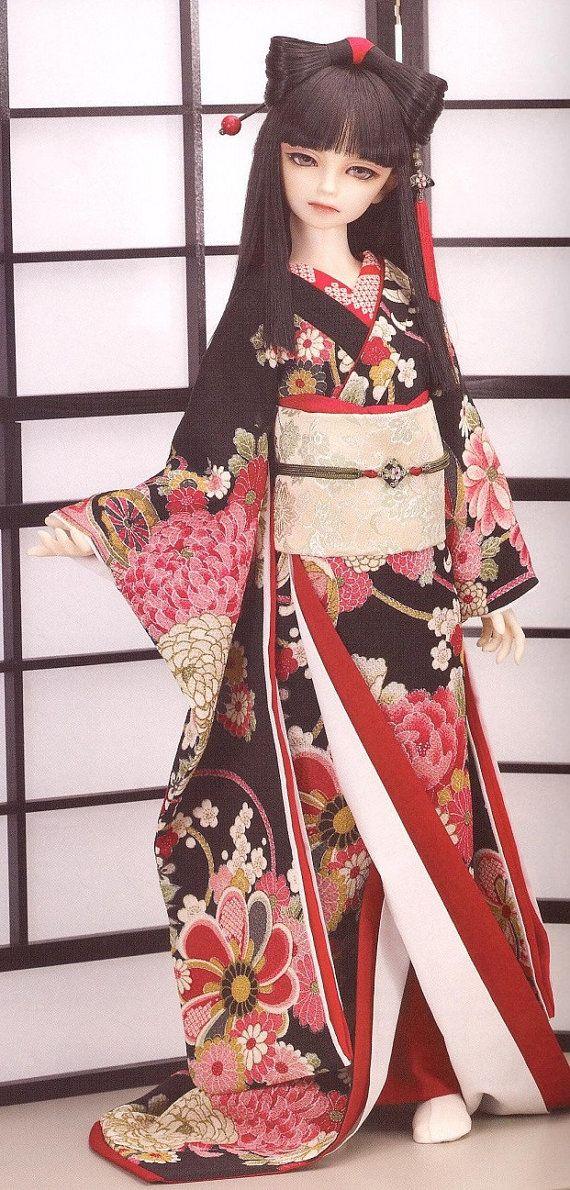 Bjd Pattern Msd 1 4 Chinese Traditional Japanese Kimono