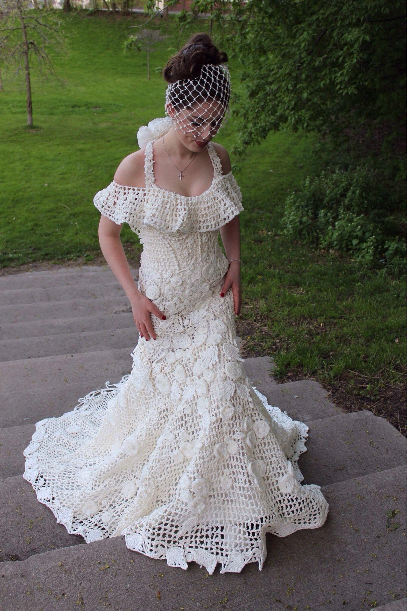 15th Annual Toilet Paper Wedding Dress Contest Via Aol Lifestyle Read More Https Www A Crochet Wedding Dresses Toilet Paper Wedding Dress Diy Wedding Dress
