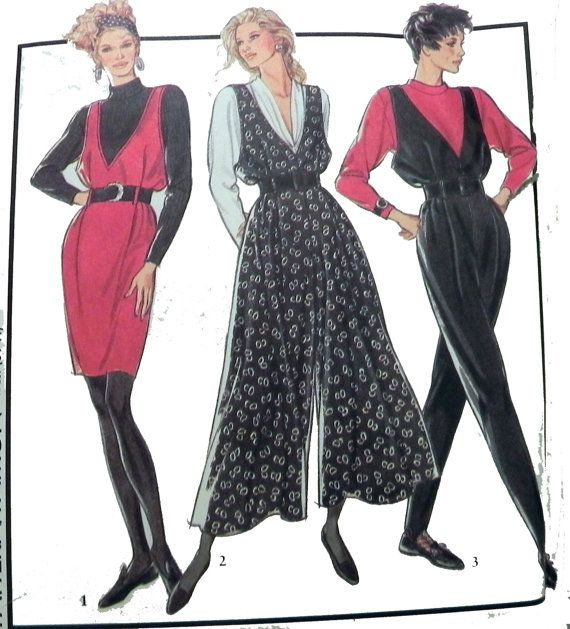 Style 1943 80's  Pinafore Culottedress and by retroactivefuture, $9.00