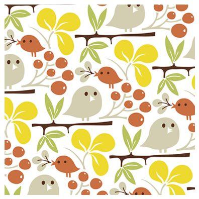bird pattern {via One Lucky Helen by Helen Dardik}