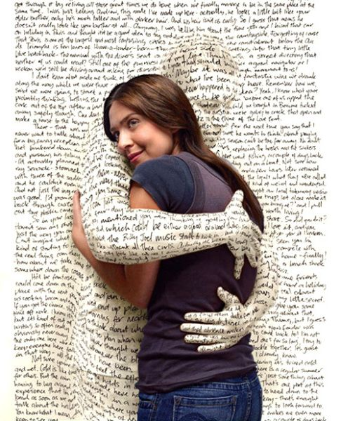 Text hug: safe!  For me better than a real one :-(