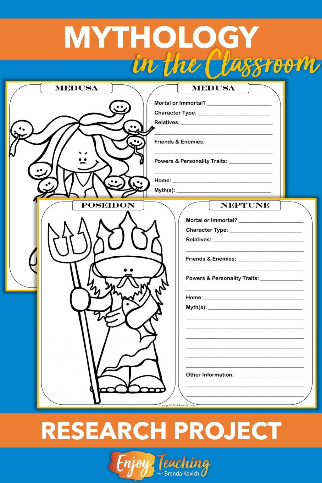 Teaching Mythology With Ela Activities For Your Fourth