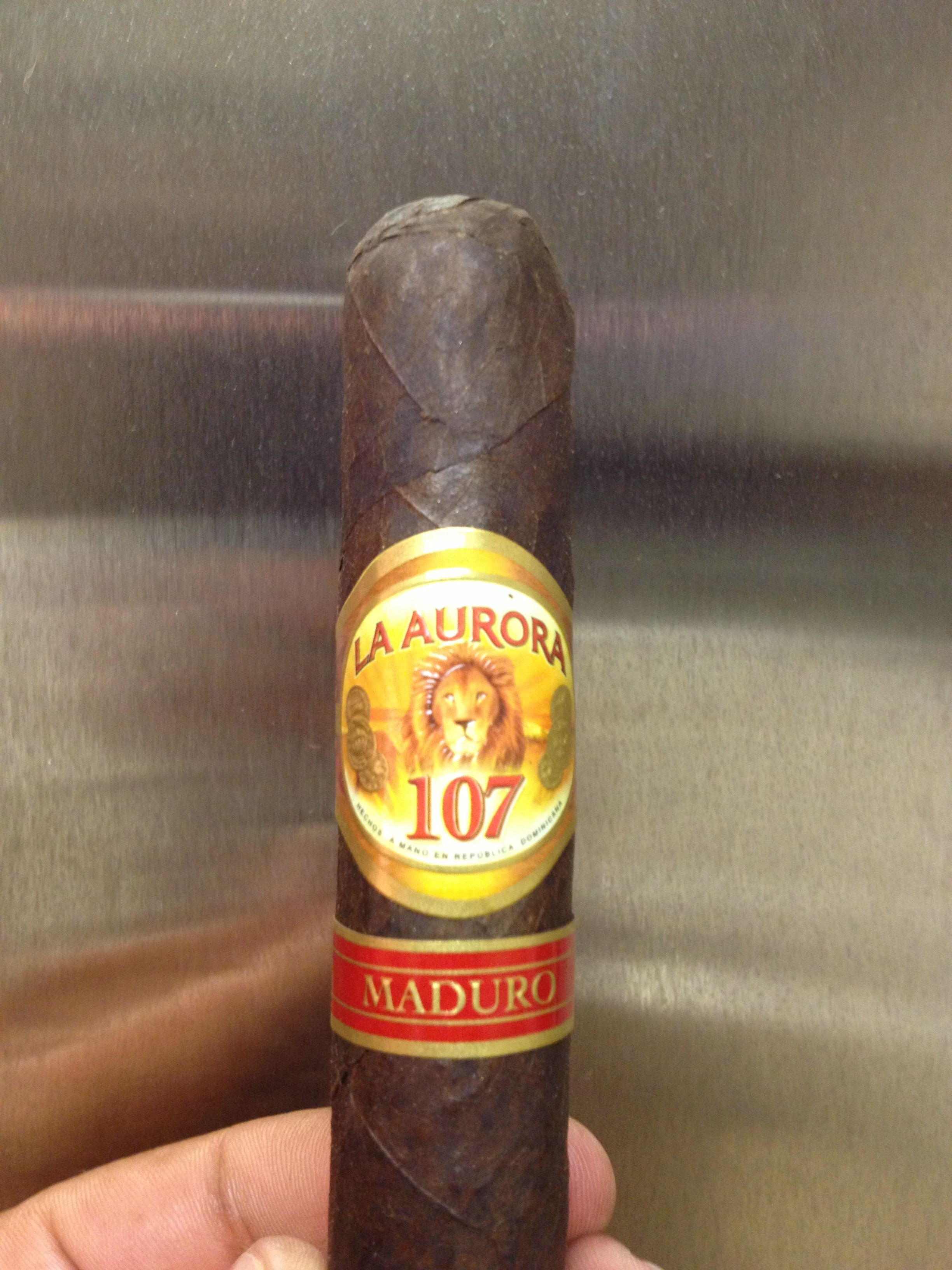 Enjoyed this La Aurora 107 Maduro.