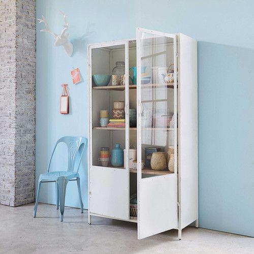 vitrine en m tal blanche maisons du monde mdm vintage pinterest maison du monde. Black Bedroom Furniture Sets. Home Design Ideas