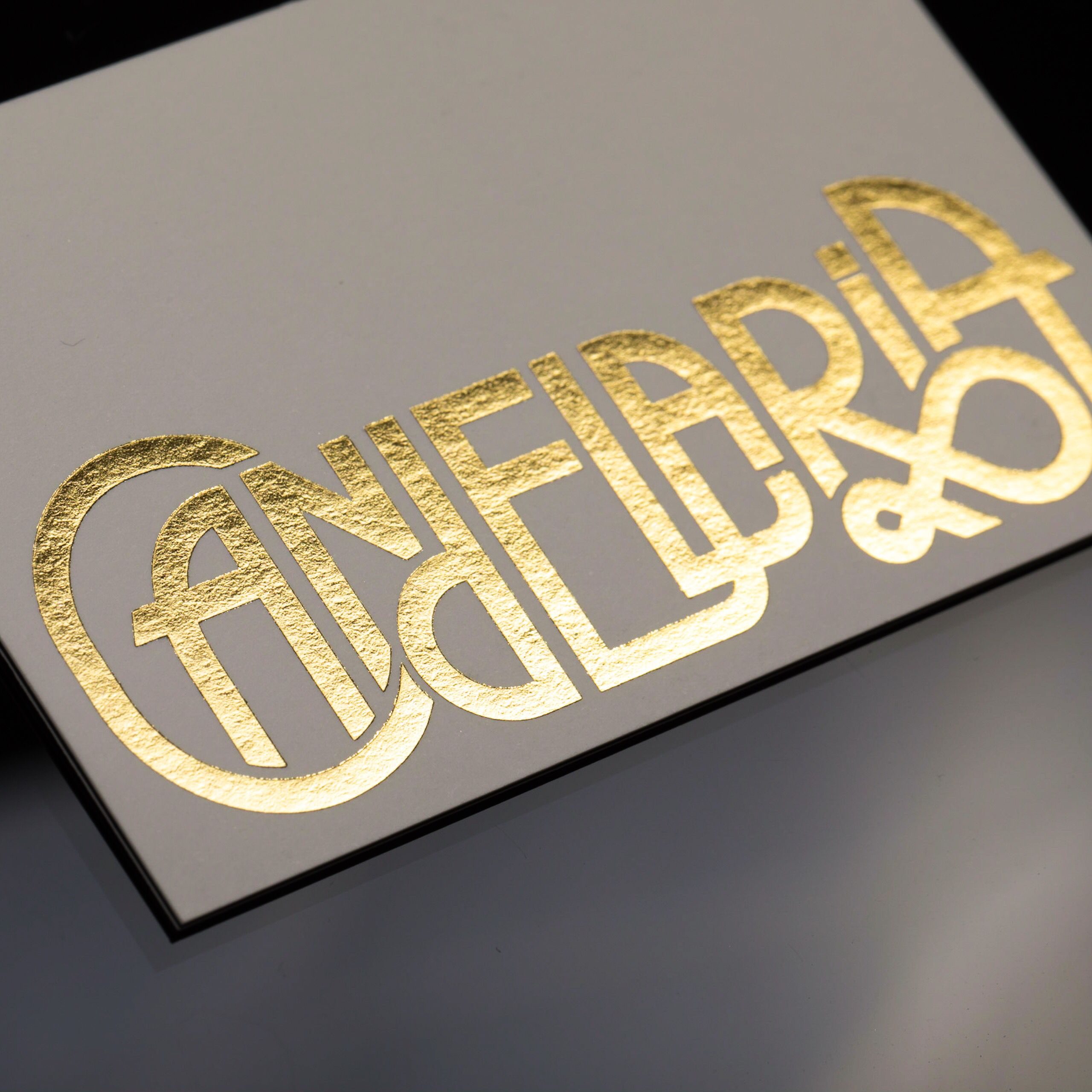 There is little more glamorous than a letterpress business card there is little more glamorous than a letterpress business card imprinted with metallic gold ink reheart Choice Image