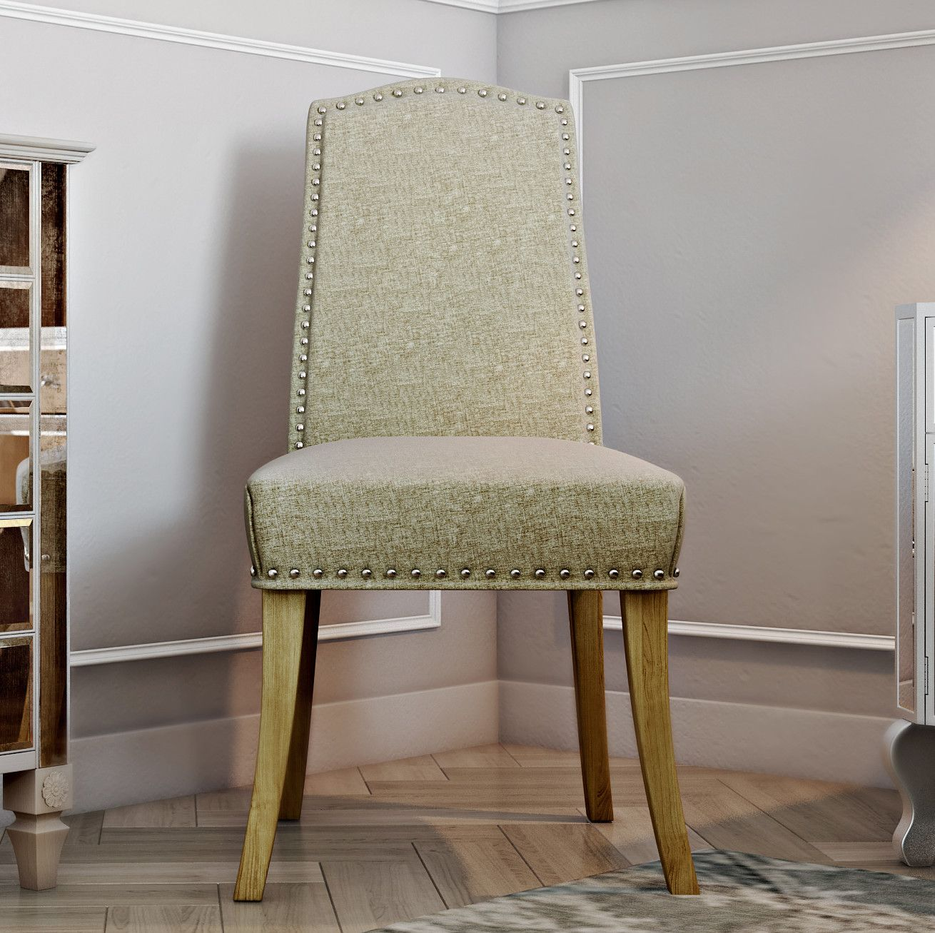 Fairmont Park Looe Solid Oak Upholstered Dining Chair & Reviews Magnificent Upholstered Dining Room Chairs Decorating Design