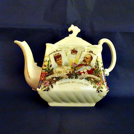 King Edward Vii Antique Royal Teapot