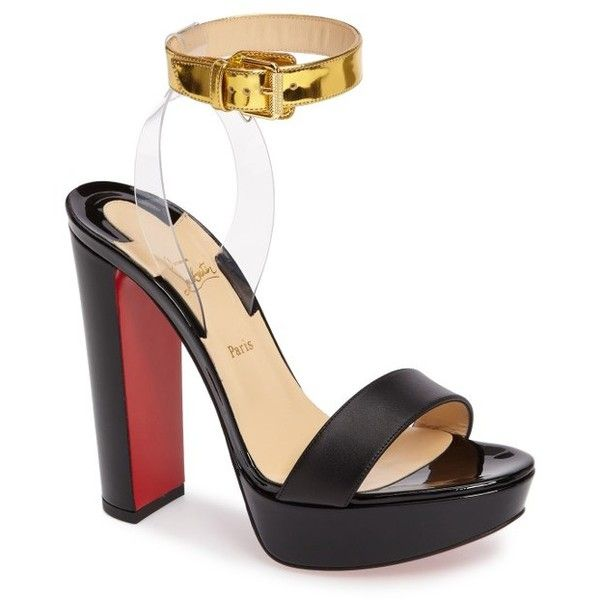e4cf70c1269 ... low price womens christian louboutin cherry sandal 895 liked on polyvore  featuring shoes sandals black patent