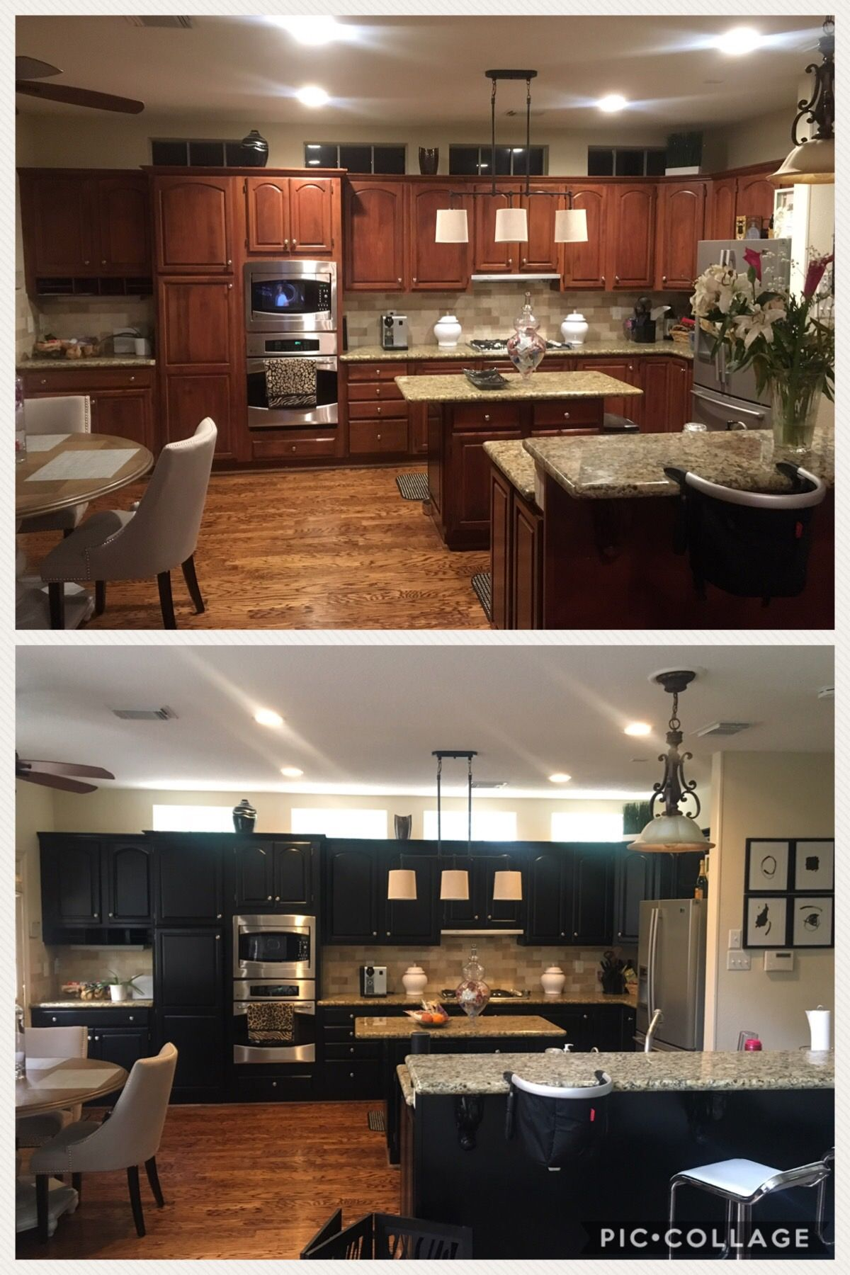 Gel stain kitchen cabinets black DYI general finishes flat ...