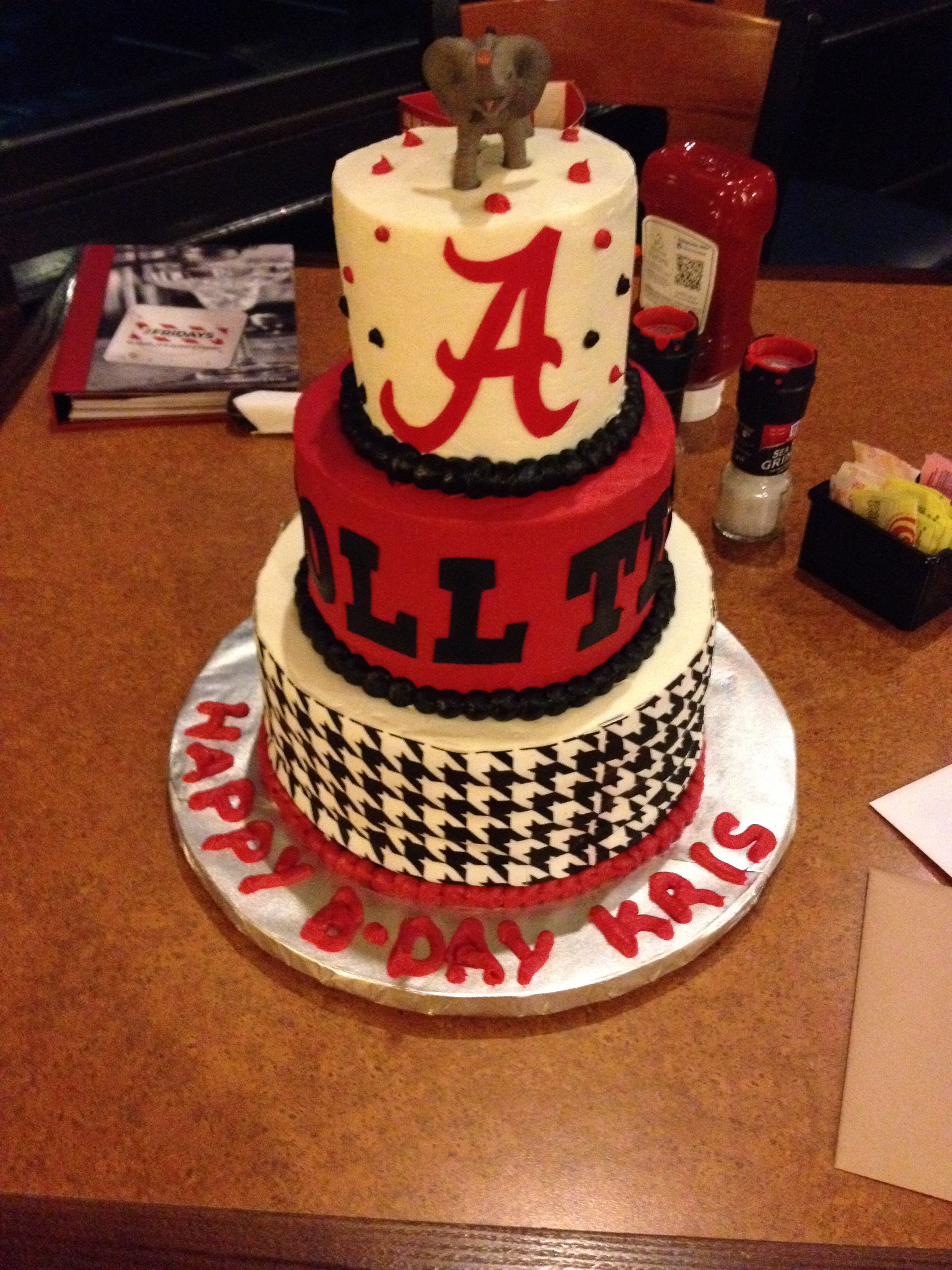 Birthday Cake For Alabama Fan Cakes Pinterest Birthday Cakes
