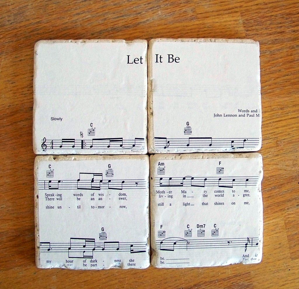 Just got some of these! :)  Beatles Sheet Music Coasters  You Choose The by CarolinaCottage, $28.00