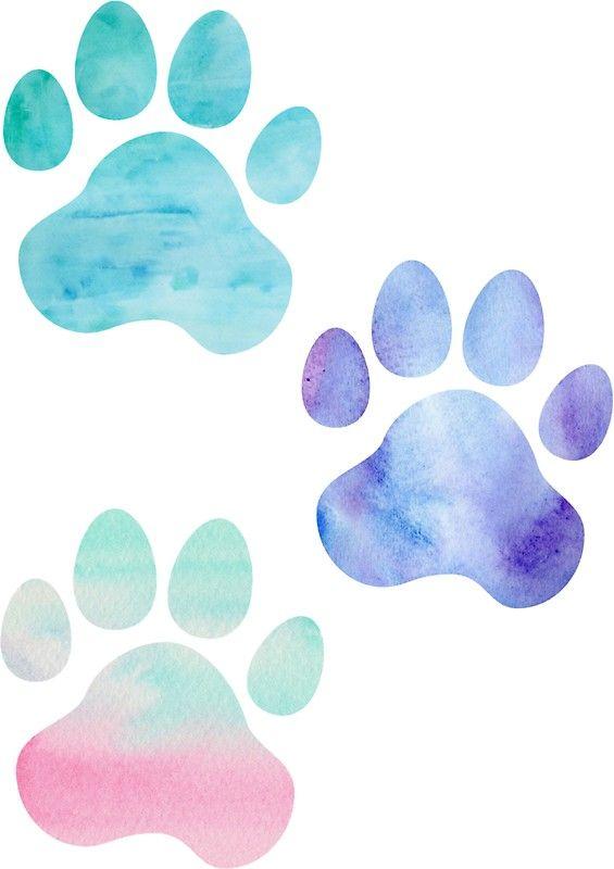 Watercolor Paw Print Trio Sticker Paw Print Art Paw Print Stickers Paw Wallpaper