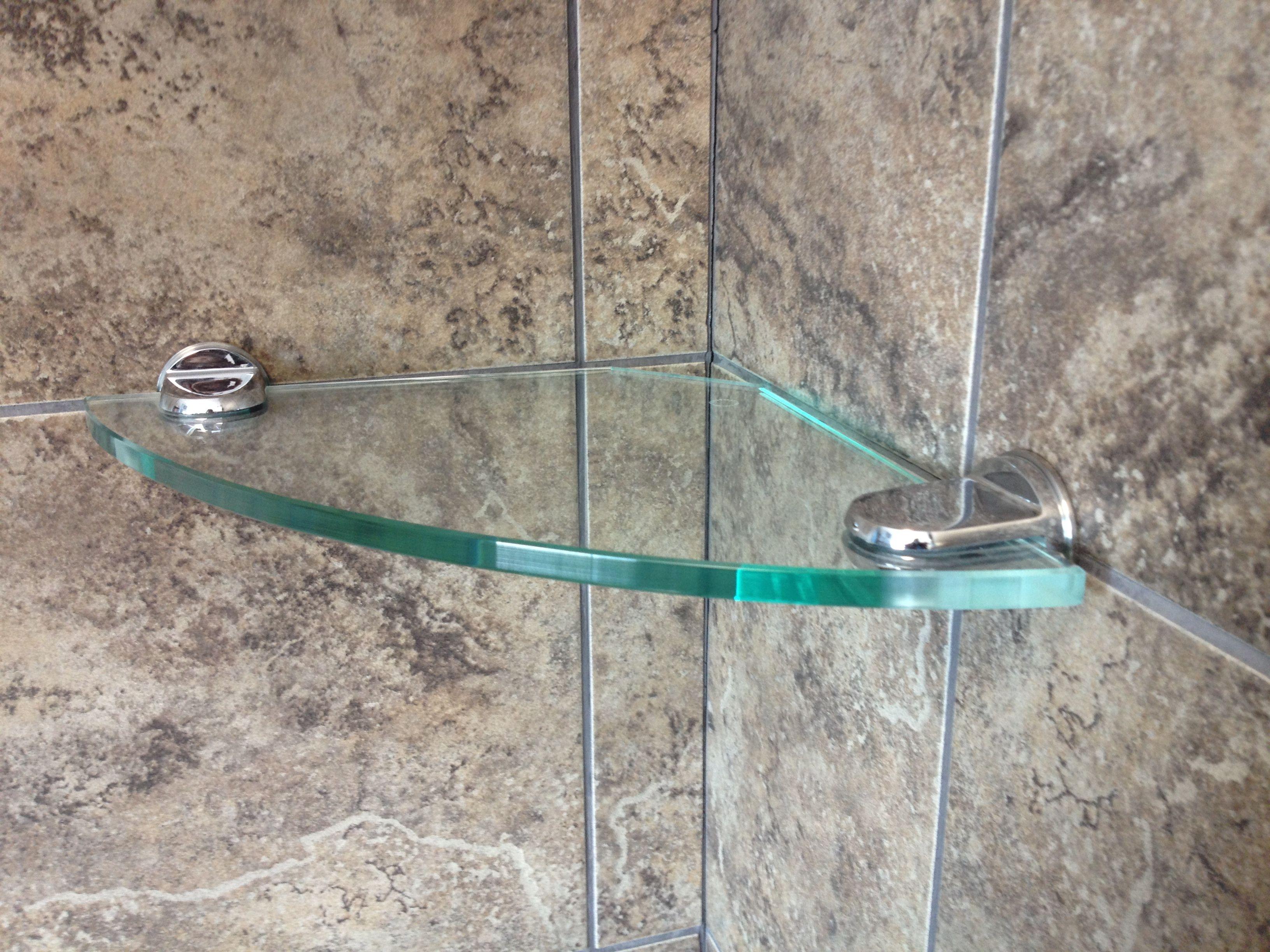 Tempered Glass Shower Shelves Https Www Otoseriilan Com In 2020 Glass Bathroom Glass Shelves Glass Shower Shelves