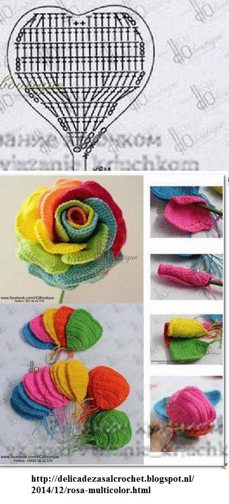 Pin de maria villa en flores | Pinterest | Ganchillo, Flores tejidas ...