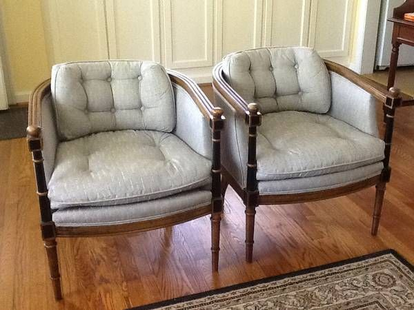 Accent Chairs   Set Of Two Set Of Two Sweet Little Hard Wood Antique Accent  Chairs