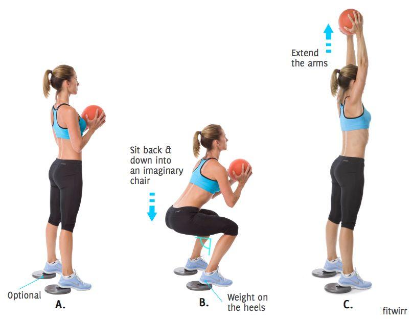 Medicine Ball Squat Thrusters | Health & Exercise Tips | Medicine