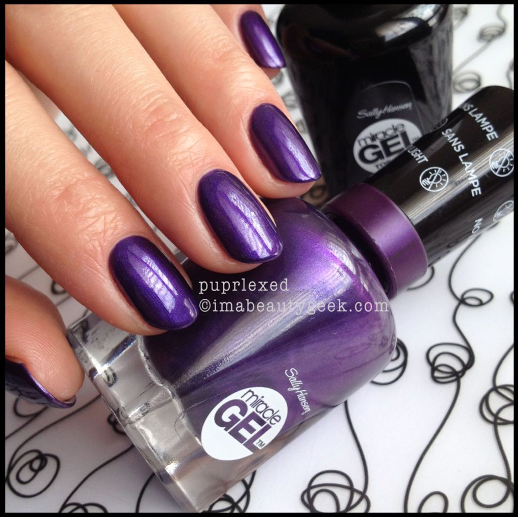 Sally Hansen Miracle Gel Hybrid Gel Polish Needs No Lamp First Swatches Beautygeeks Sally Hansen Miracle Gel Sally Hansen Miracle Gel Review Nail Polish