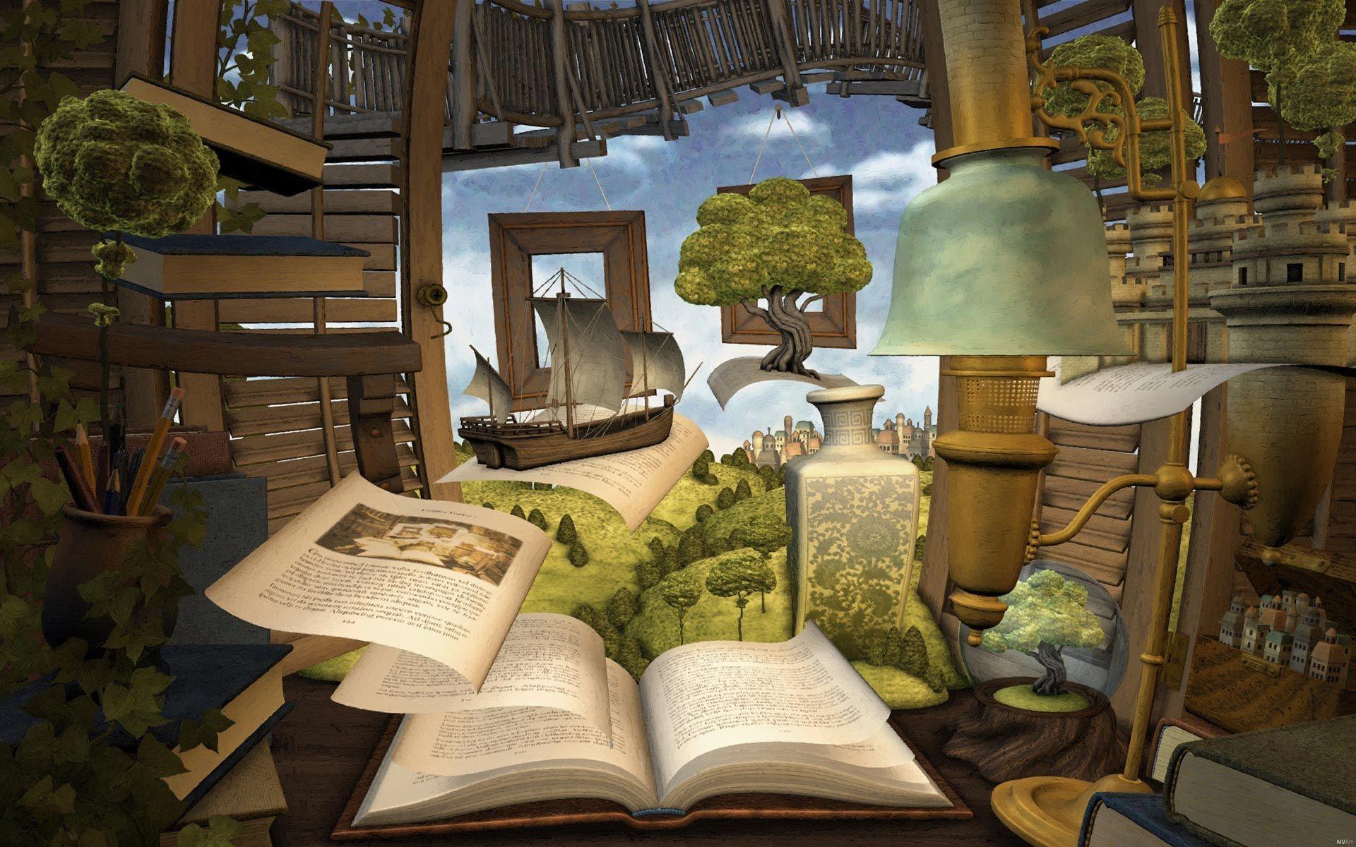 Books Through The Outside Book Wallpaper Wallpaper Book Art