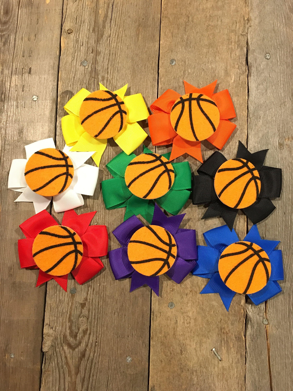 Basketball Hair Accessories Basketball Hair Clip Basketball Hair Bow