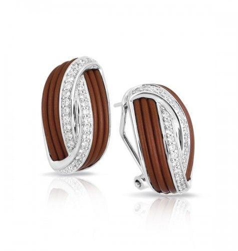 Belle Etoile Eterno Brown Earrings. Hand strung, unique design, sophisticated jewel designs. Fashion jewelry available online at Elegant Jewelers.
