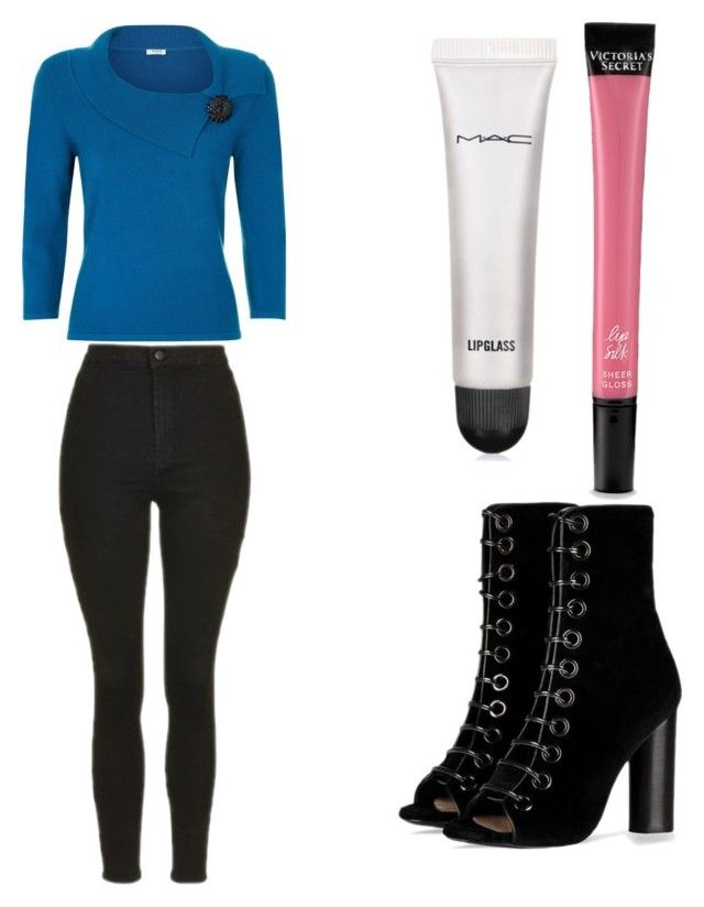 """""""Untitled #8320"""" by ohnadine on Polyvore featuring Barbara Bui, Victoria's Secret, MAC Cosmetics, Topshop and Precis Petite"""