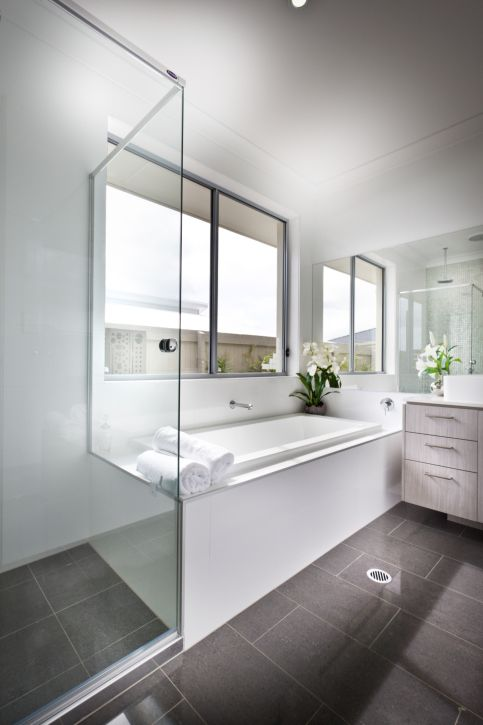 32 Bathrooms With Dark Floors Bathroom Interior Bathroom Floor