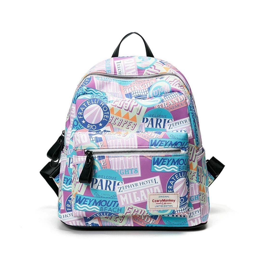 mochilas escolares juveniles niña Switchali Lona bolsas escolares moda  floral Pijo Mochila escolares niño mochilas mujer ea8d12a90810b