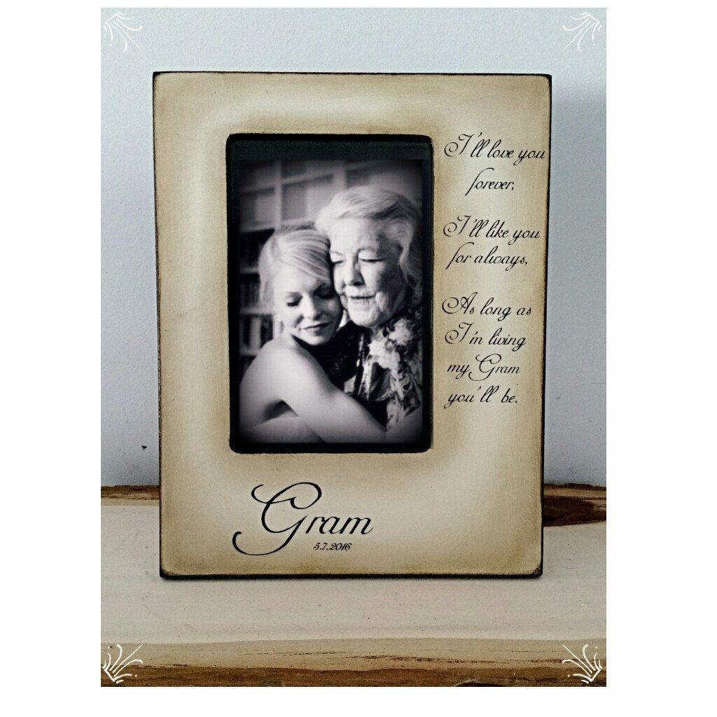 Grandma, Nana, Mothers Day Gift, Wedding Frame Bride Keepsake ...