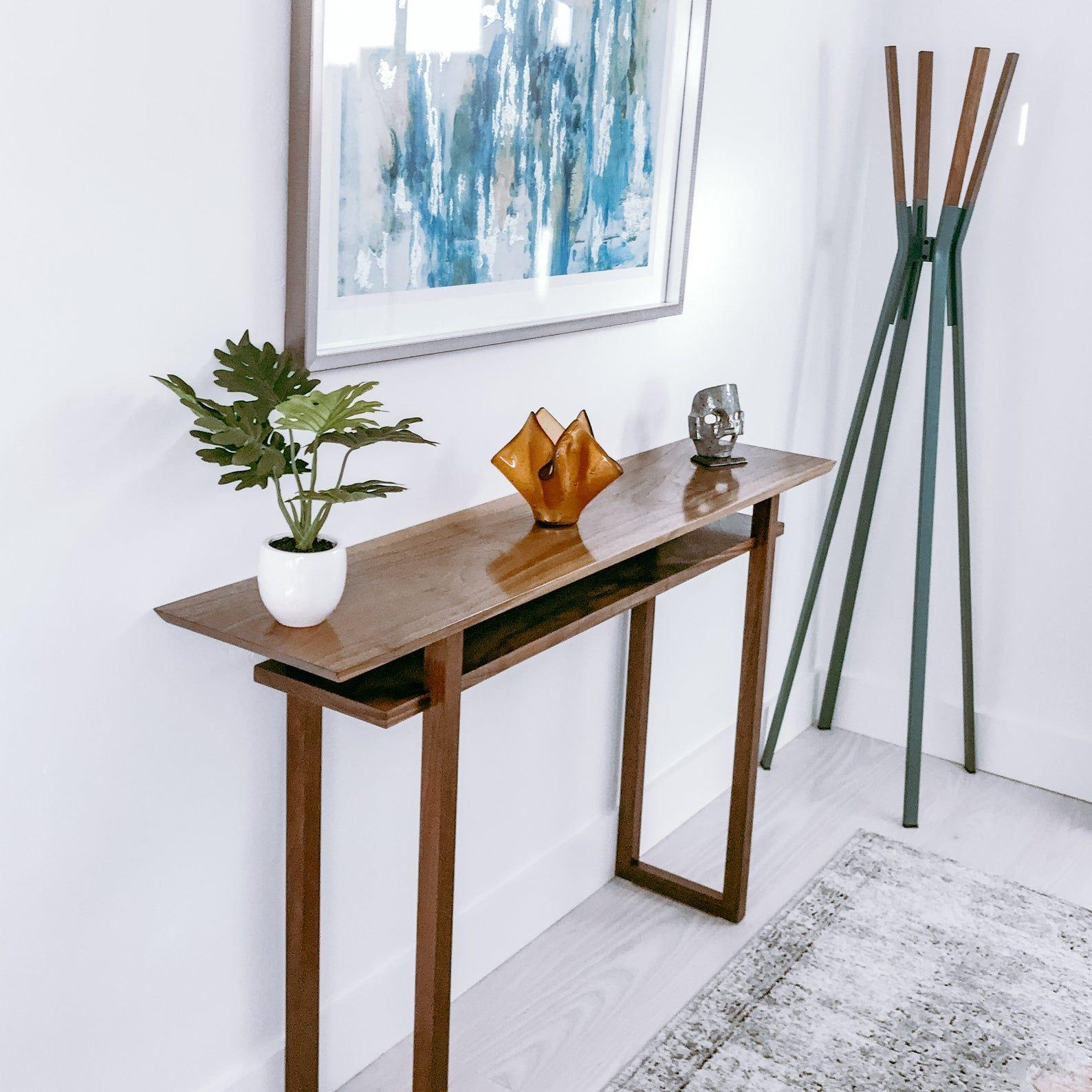 Modern Wood Narrow Hallway Table Narrow Console Table Side Etsy In 2021 Narrow Console Table Classic Console Table Entry Console Table