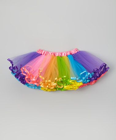 Look what I found on #zulily! Hot Pink & Rainbow Pettiskirt - Infant, Toddler & Girls #zulilyfinds