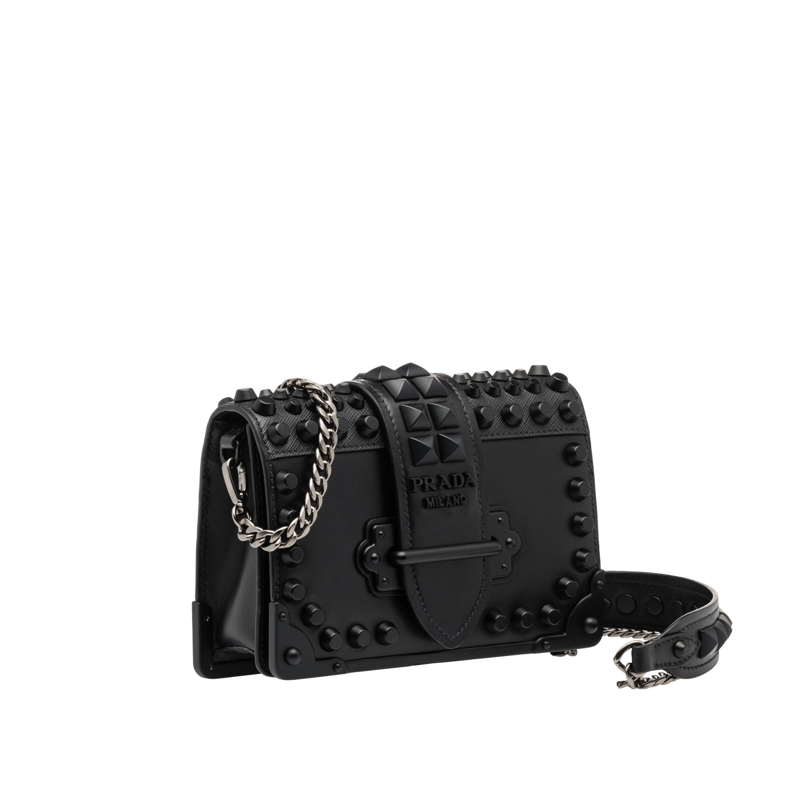 be68139577df Prada Cahier leather shoulder bag