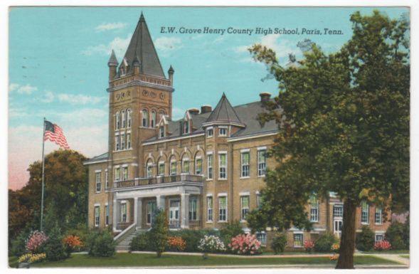 E w grove henry county high school paris tn tennessee postcard e w grove henry county high school paris tn tennessee postcard sciox Choice Image