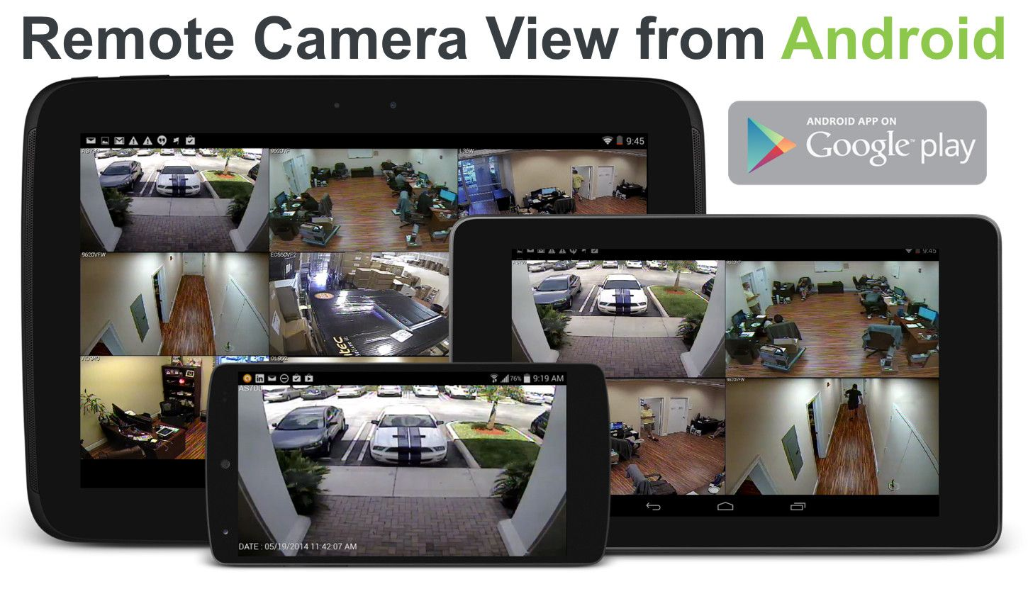 The nViewer security camera app for Android lets users