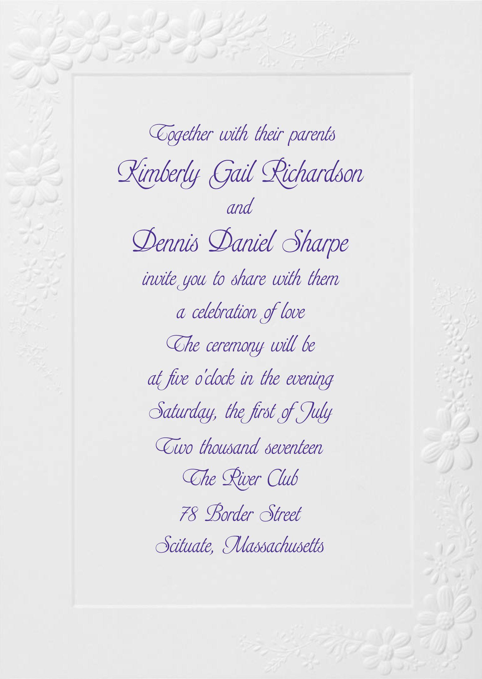 Birchcraft Wedding Invitations.Birchcraft Wedding Invitation With Floral Border Catalog