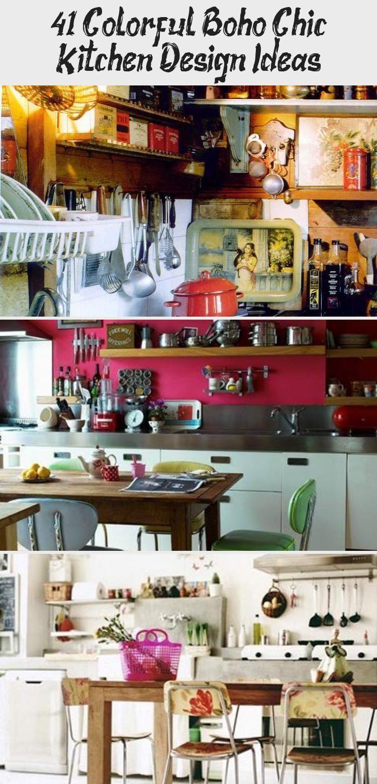 41 colorful boho chic kitchen design ideas kitchen decor in 2020 chic kitchen boho kitchen on boho chic kitchen diy id=30940