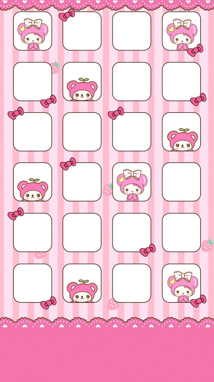 Iphone6 Iphone6plus 适配壁纸 Sanrio Wallpaper Kitty