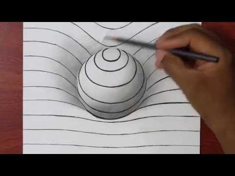 Comment Dessiner Une Sphere En 3d Illusion D Optique Tuto Dessin