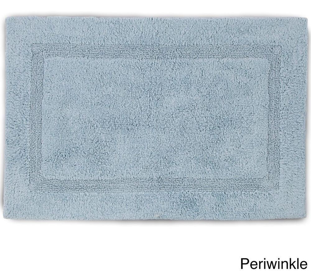 Periwinkle Plush Cotton Tufted Bath Rug with Non-skid Latex Backing ...