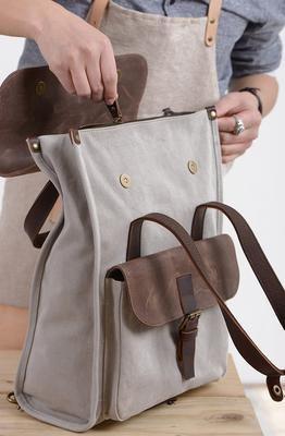 Travel Backpack, Laptop Rucksack, Vintage Shoulder Bag, Handmade Canvas School Bag NX011