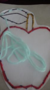 Sew an apple - for kids!