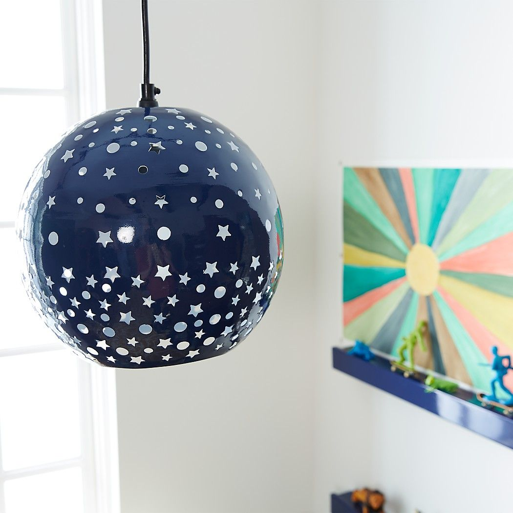 Star and Dot Pendant|The Land of Nod | Kids ceiling lights ...