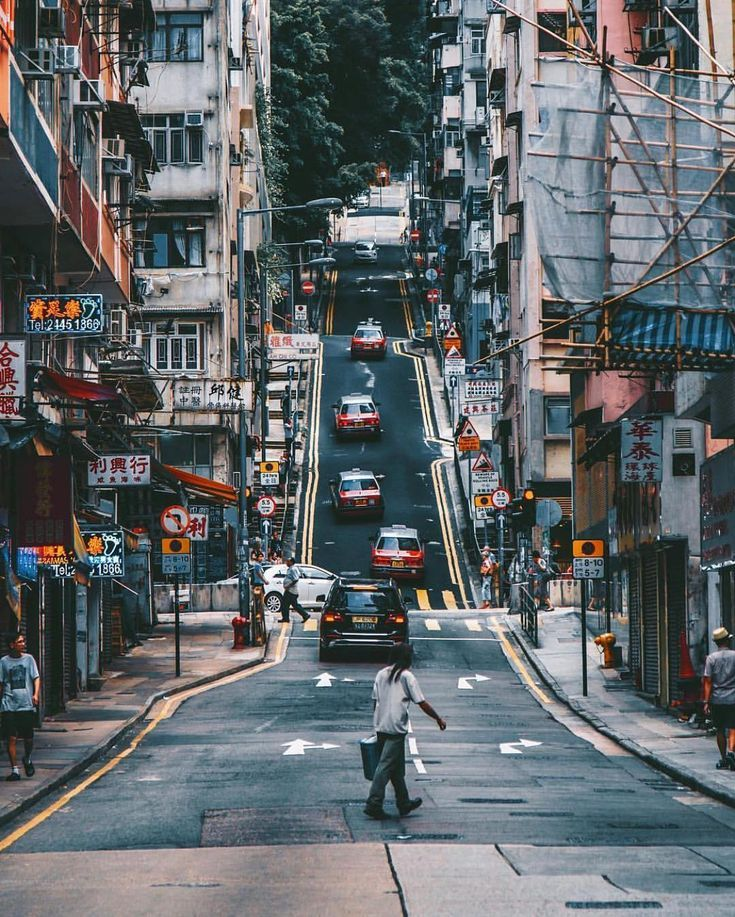 Amazing Hong Kong: A Typical Street Scene Of Hong Kong. Thanks -@dchantie For