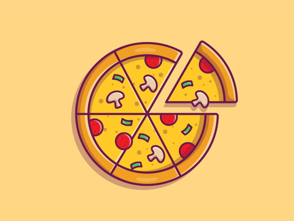 Pizza Pizza Art Pizza Icon Cartoon Pizza Slice