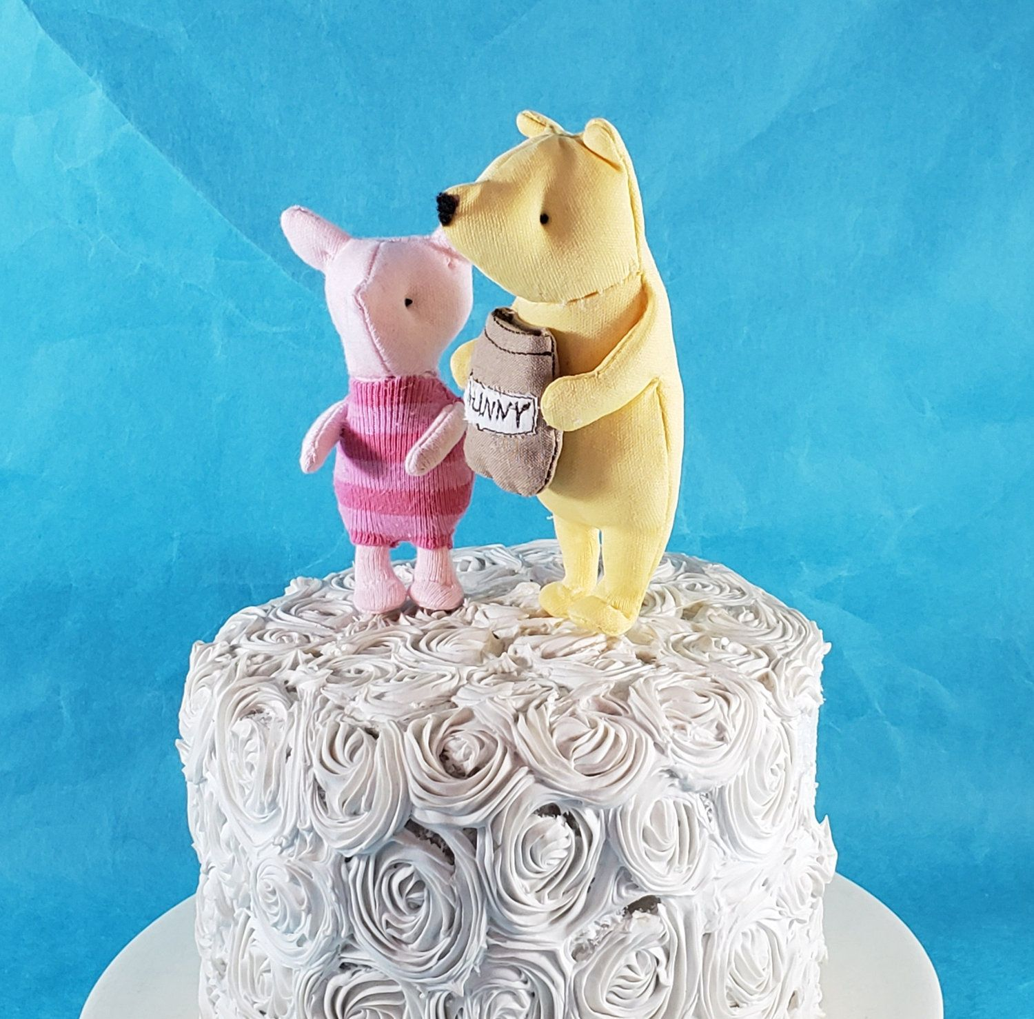 Classic pooh bear cake toppers fabric winnie the pooh