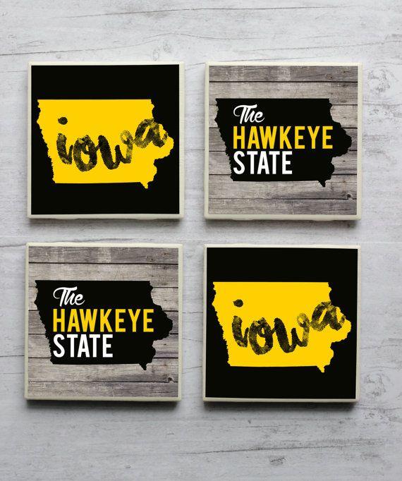 Iowa Coasters Hawkeye State Coaster Home Love Gift Decor City