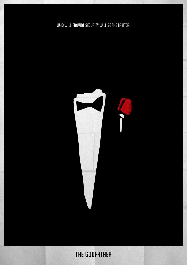 Minimalist Movie Posters By Lucas Felipe Via Behance Movie Posters Minimalist Movie Posters The Godfather Poster