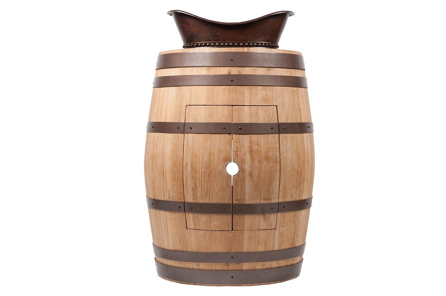 Premier Copper WBV_S05N Wine Barrel Vanity Package with Bath Tub ...