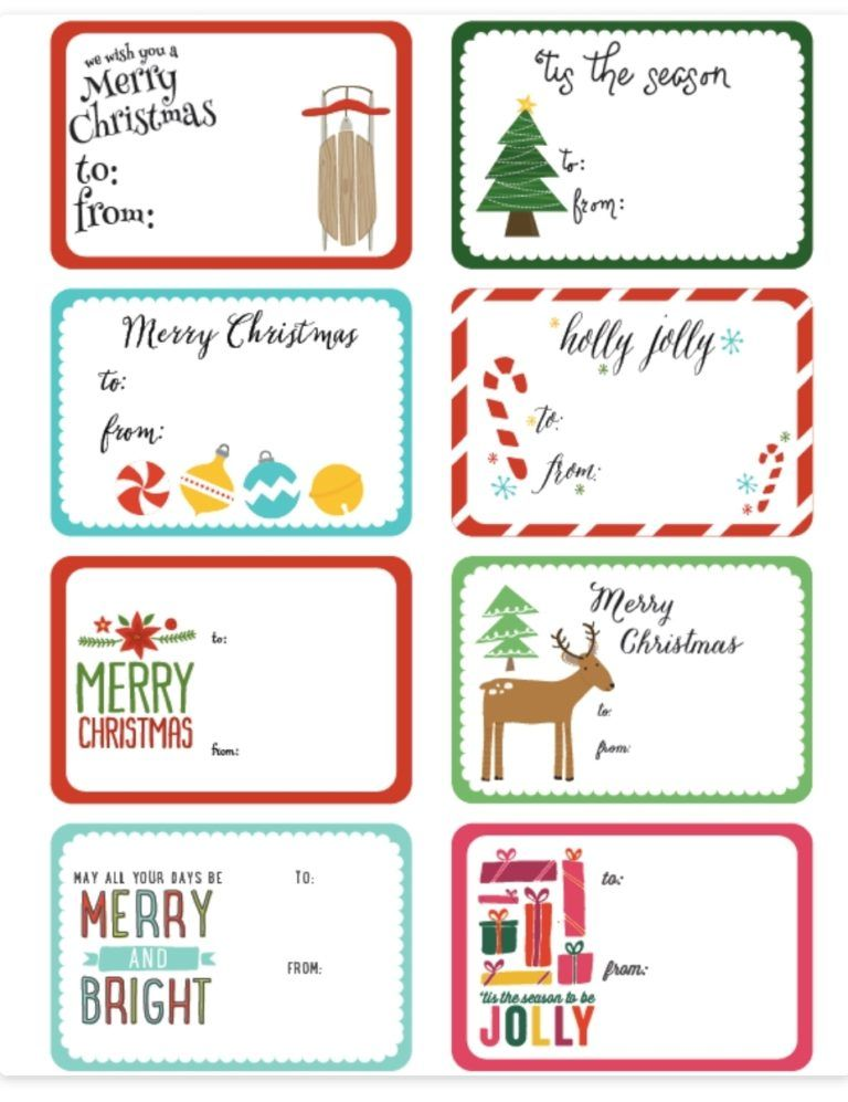 Free Printable Christmas Labels Christmas Printable Labels Printable Christmas Gift Labels Free Printable Christmas Labels