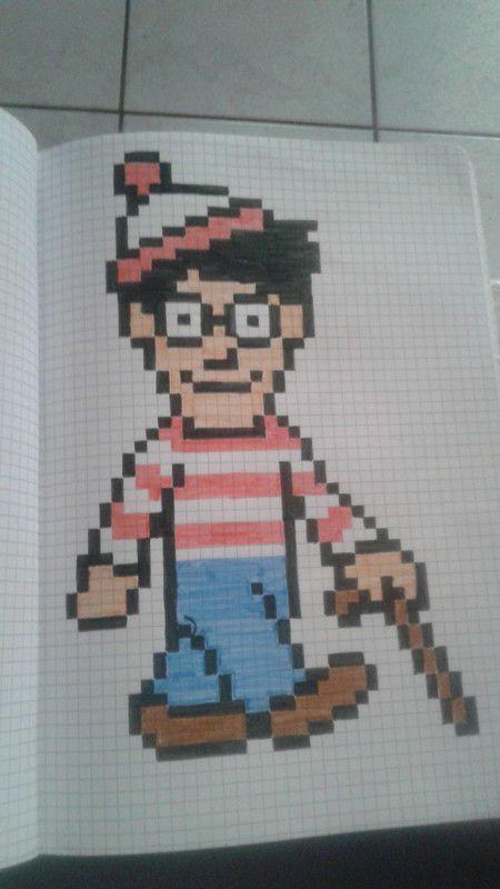 Charlie Dessin Petit Carreau Dessin Pixel Art Facile Et